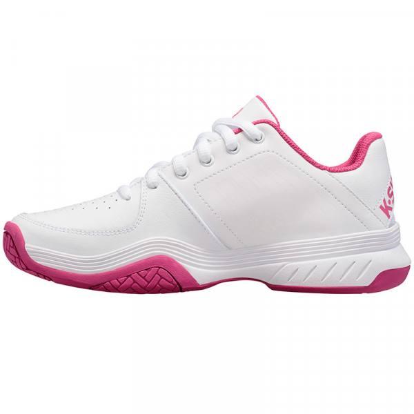 Zapatillas KSwiss Court Express blancas y rosas