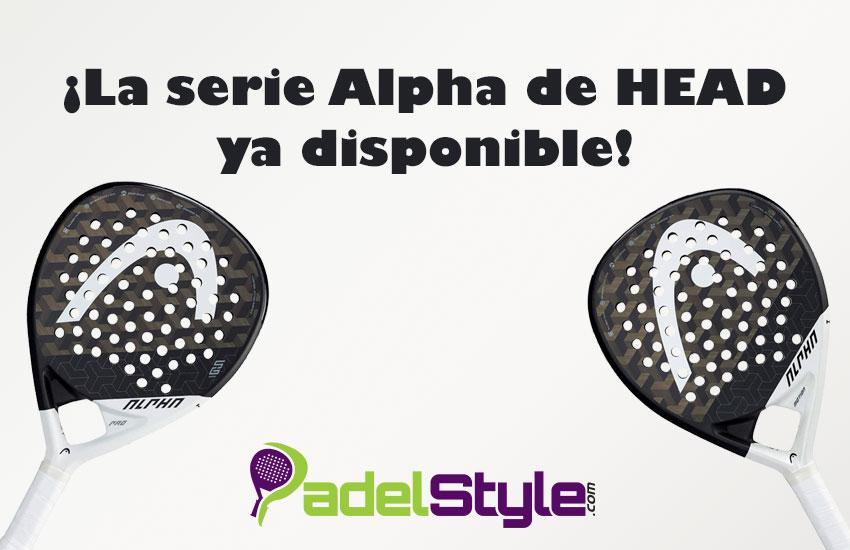 Ya disponibles las palas ALPHA de HEAD en PadelStyle