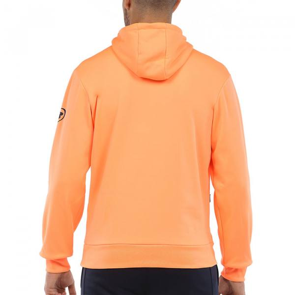 Sudadera Bullpadel Viota Naranja Fluor espalda