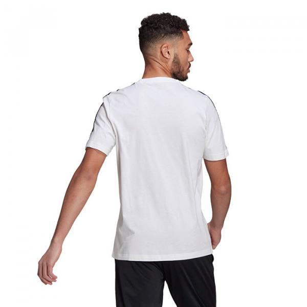 Camiseta Adidas 3 bandas blanca 21