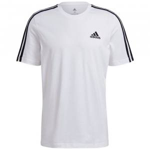 Camiseta Adidas 3 bandas blanca