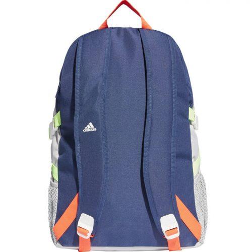 Mochila Adidas Power azul, gris y naranja