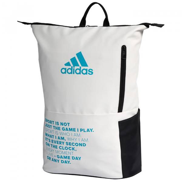 Mochila Adidas Multigame Blanca y Azul