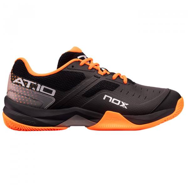 Zapatillas NOX AT10 Negras-Naranjas 21