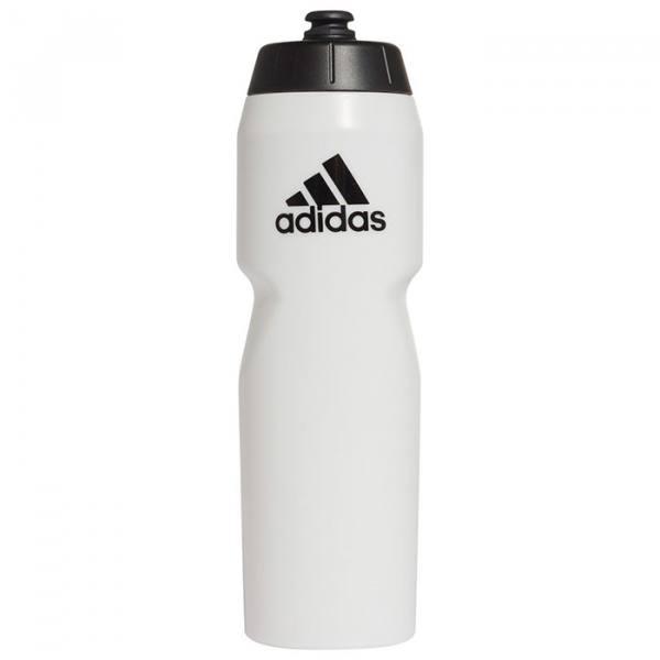 botella de agua adidas blanca