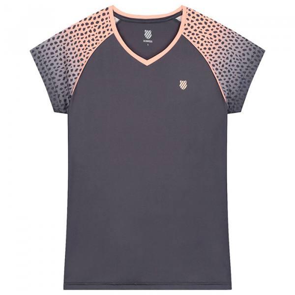 camiseta kswiss hypercourt gris y rosa