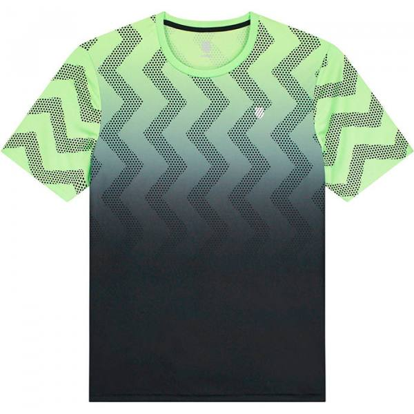camiseta kswiss hypercourt print verde degradado