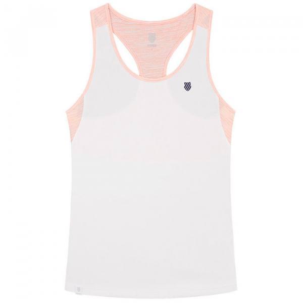 camiseta tirantes kswiss hypercourt speed blanca