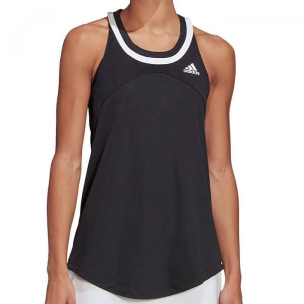 camiseta tirantes adidas club black mujer