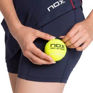 falda nox pro azul bolsillo